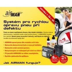 """ná sada pneAIRMAN ResQPro- Automatická opravu osobní/SUV 720ml (pro pneu 13-22"""")"""