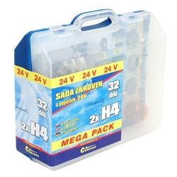 Žárovky 24V servisní box MEGA H4+H4+pojistky