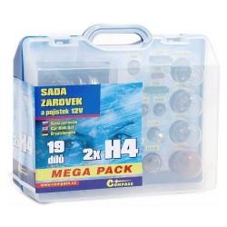 Žárovky 12V servisní box MEGA H4+H4+pojistky