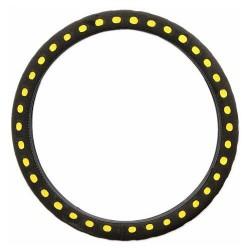 Potah volantu SOFT žlutý
